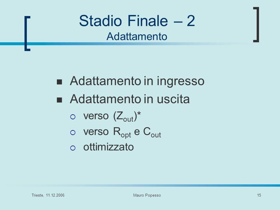 Stadio Finale – 2 Adattamento