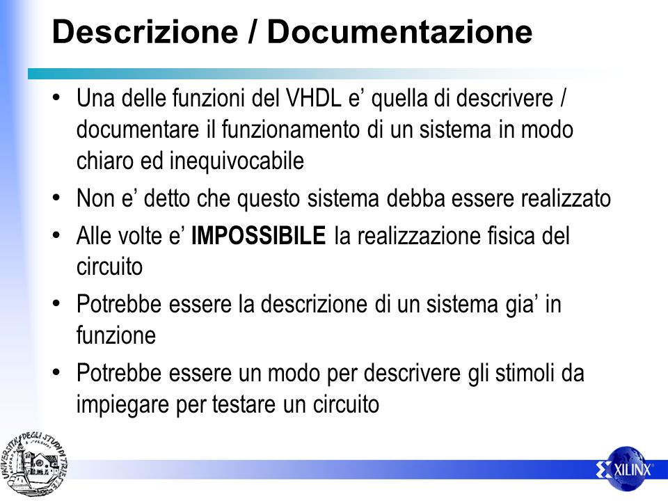 Descrizione / Documentazione