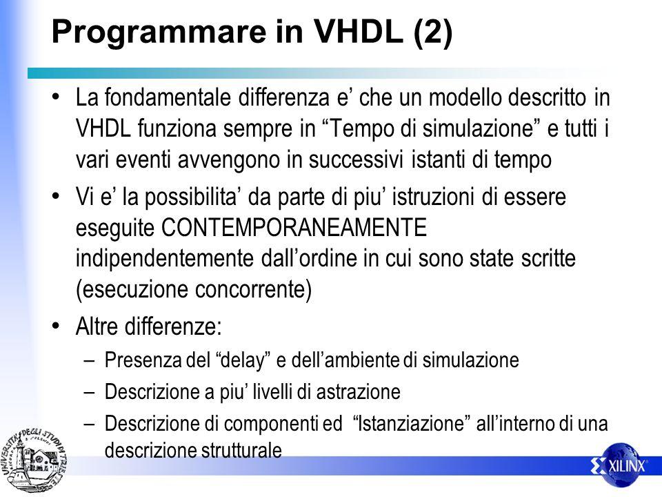 Programmare in VHDL (2)