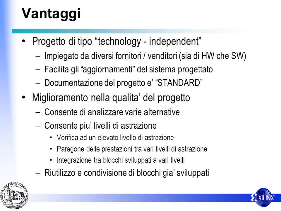 Vantaggi Progetto di tipo technology - independent