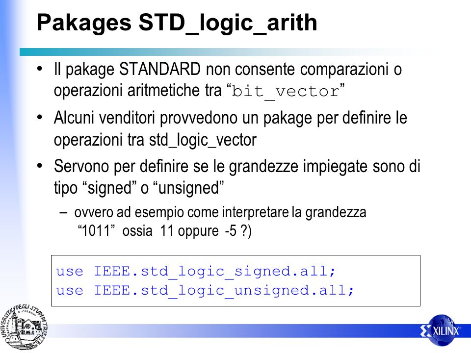 Pakages STD_logic_arith