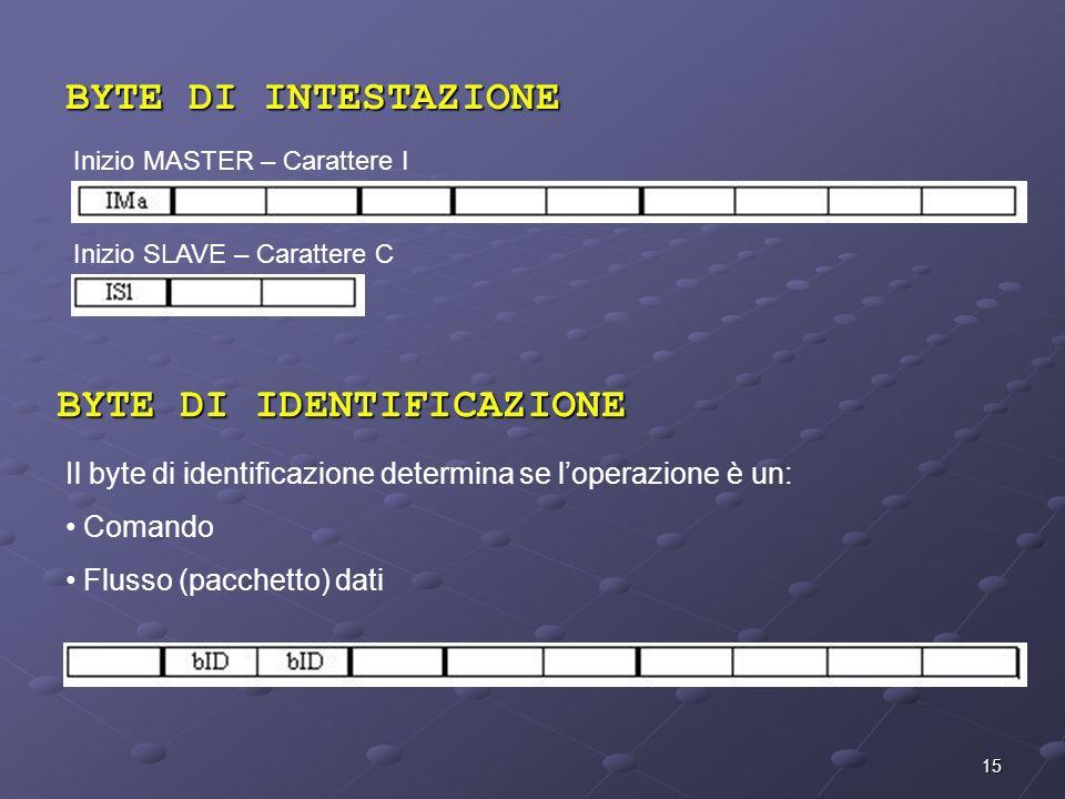 BYTE DI IDENTIFICAZIONE