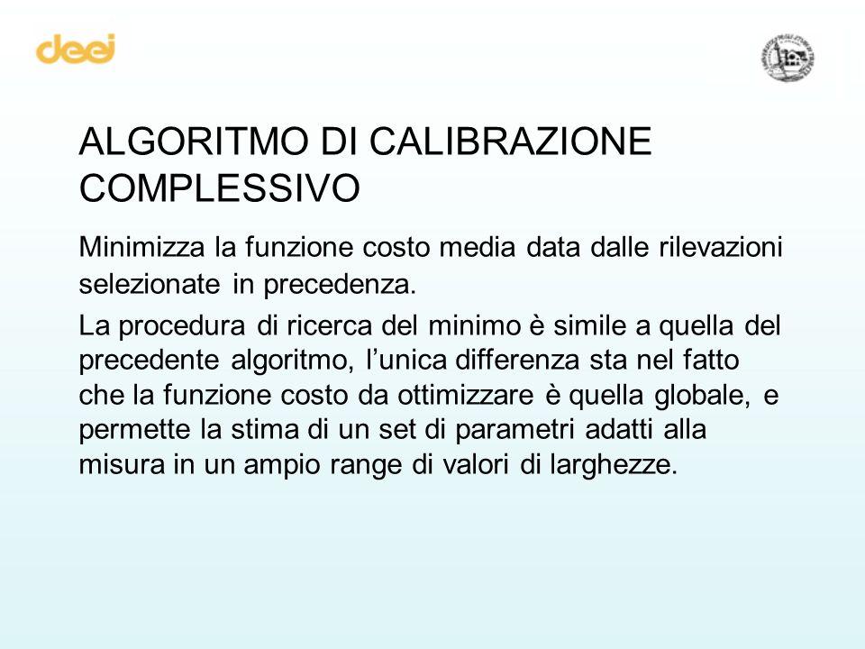 ALGORITMO DI CALIBRAZIONE COMPLESSIVO