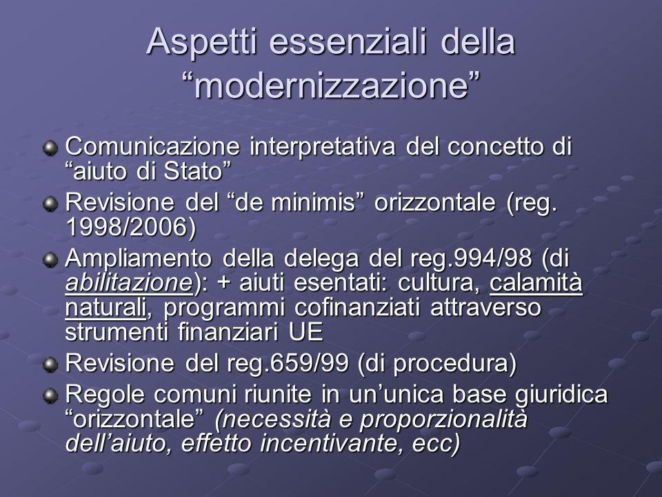 Aspetti essenziali della modernizzazione