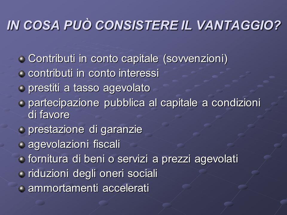 IN COSA PUÒ CONSISTERE IL VANTAGGIO