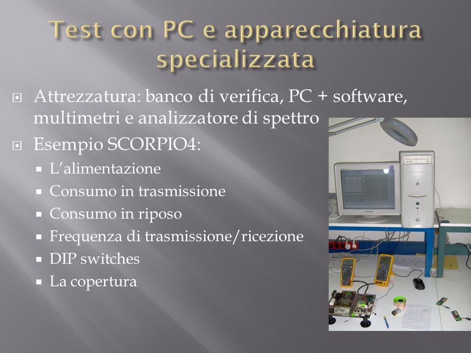 Test con PC e apparecchiatura specializzata
