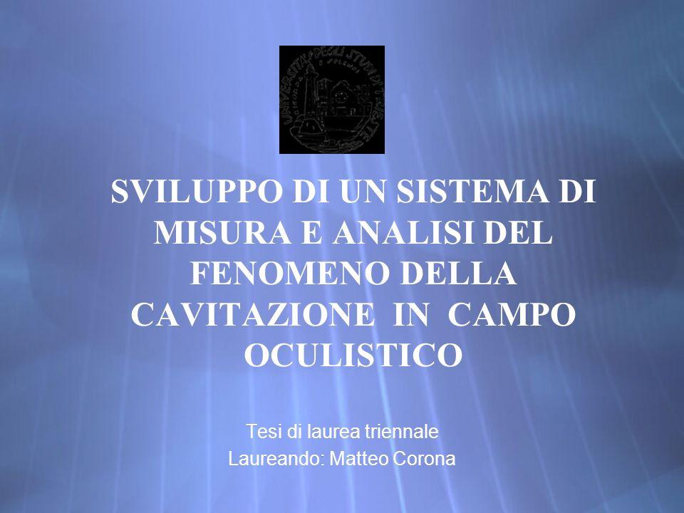 Tesi di laurea triennale Laureando: Matteo Corona
