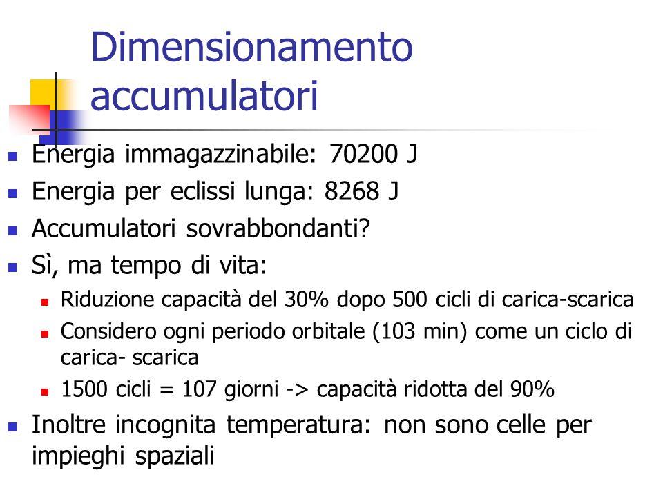 Dimensionamento accumulatori