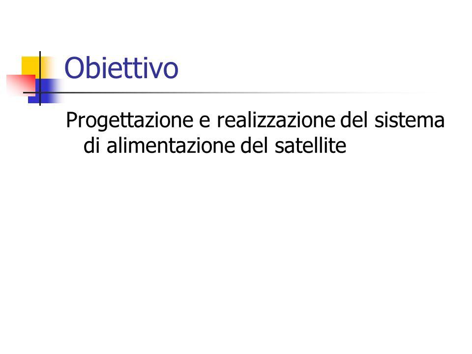 Obiettivo Progettazione e realizzazione del sistema di alimentazione del satellite