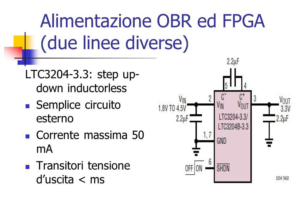 Alimentazione OBR ed FPGA (due linee diverse)