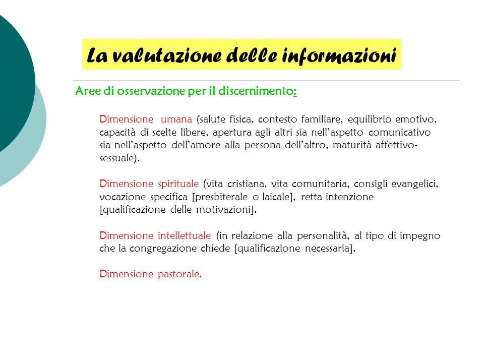 La valutazione delle informazioni