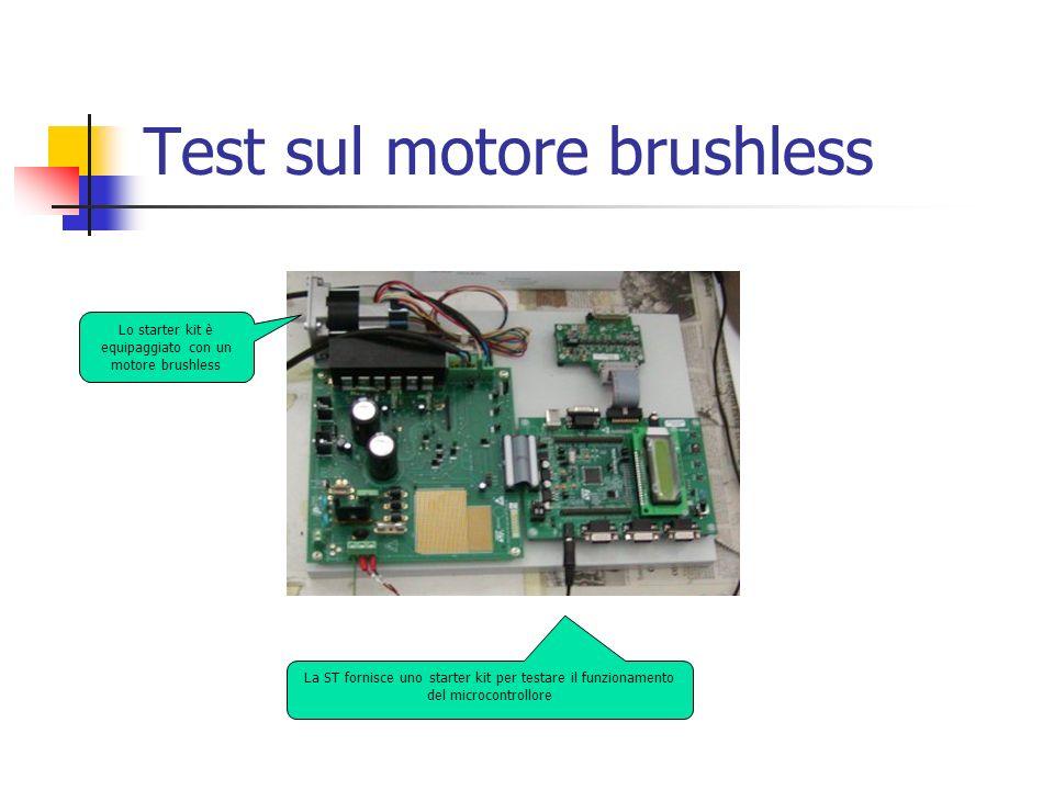 Test sul motore brushless