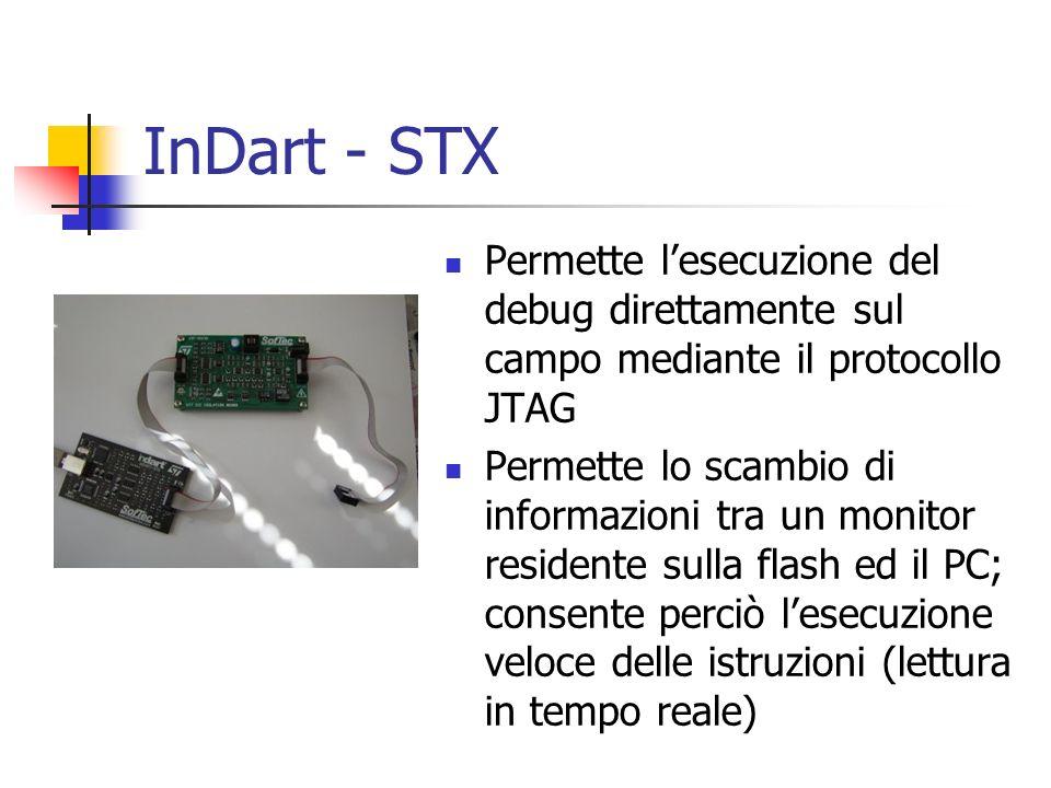 InDart - STX Permette l'esecuzione del debug direttamente sul campo mediante il protocollo JTAG.