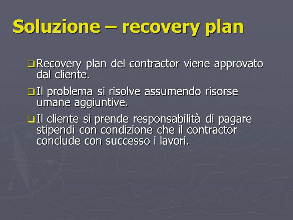 Soluzione – recovery plan