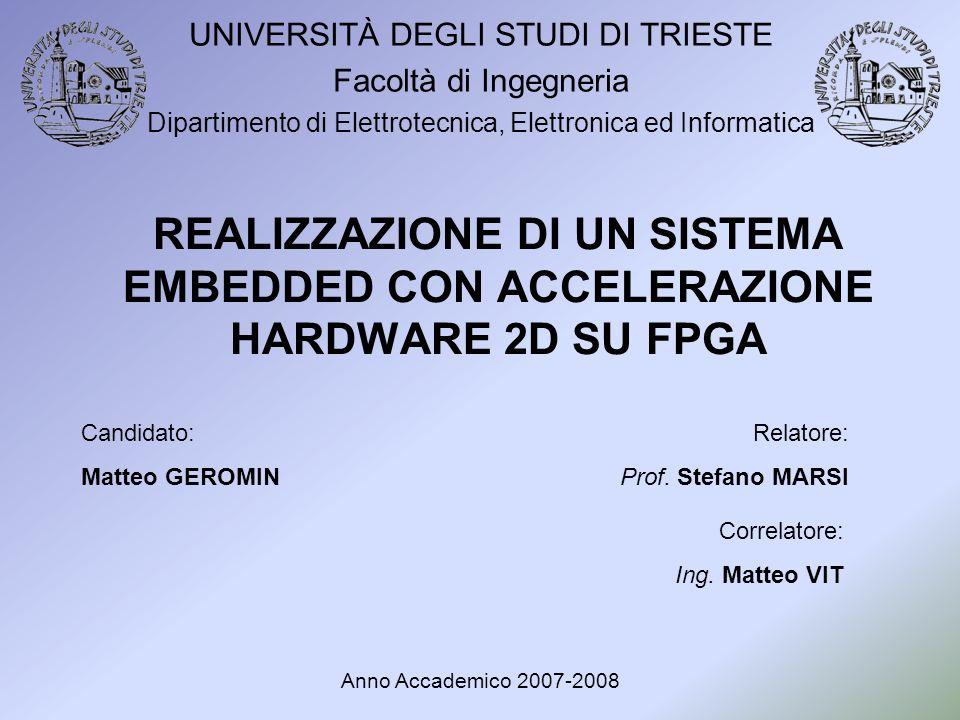 UNIVERSITÀ DEGLI STUDI DI TRIESTE Facoltà di Ingegneria Dipartimento di Elettrotecnica, Elettronica ed Informatica