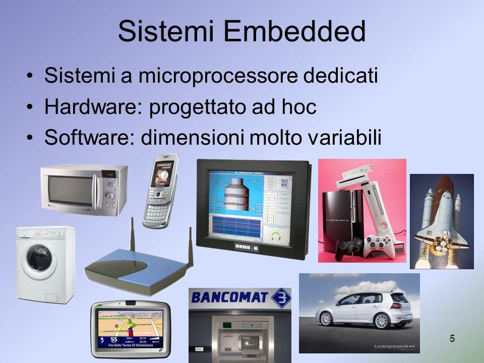 Sistemi Embedded Sistemi a microprocessore dedicati