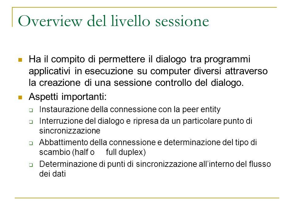 Overview del livello sessione