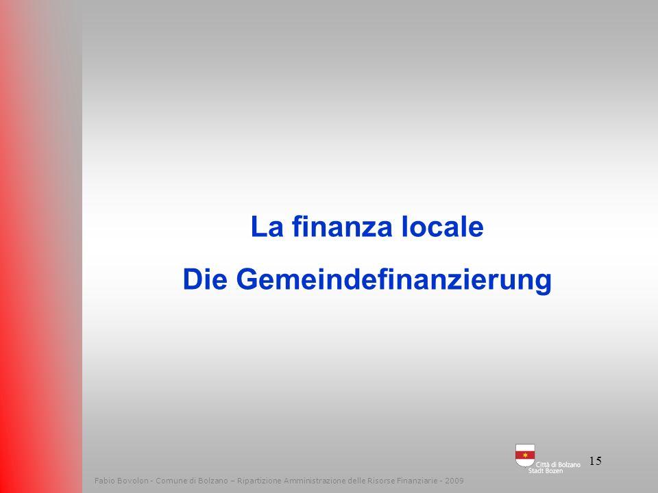 Die Gemeindefinanzierung