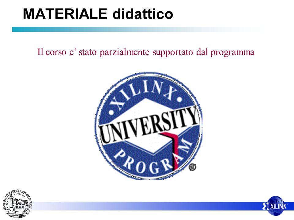 MATERIALE didattico Il corso e' stato parzialmente supportato dal programma