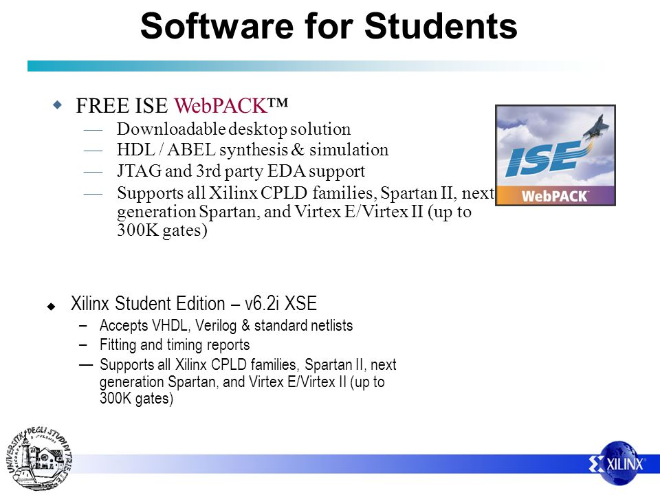 Software for Students FREE ISE WebPACK™