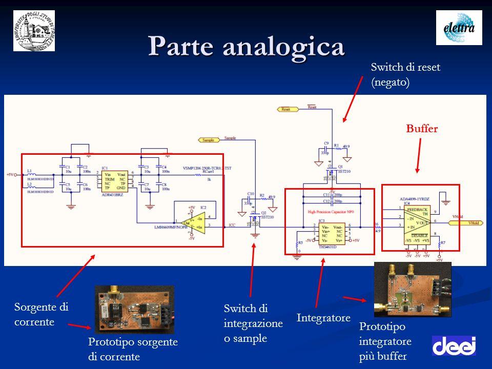 Parte analogica Switch di reset (negato) Buffer Sorgente di