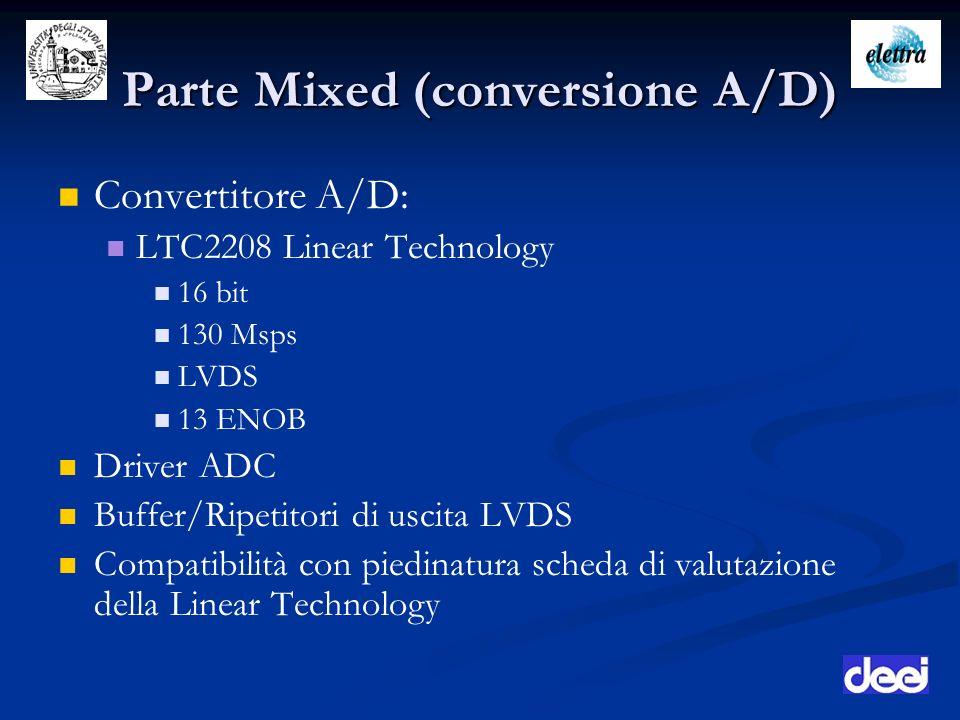 Parte Mixed (conversione A/D)