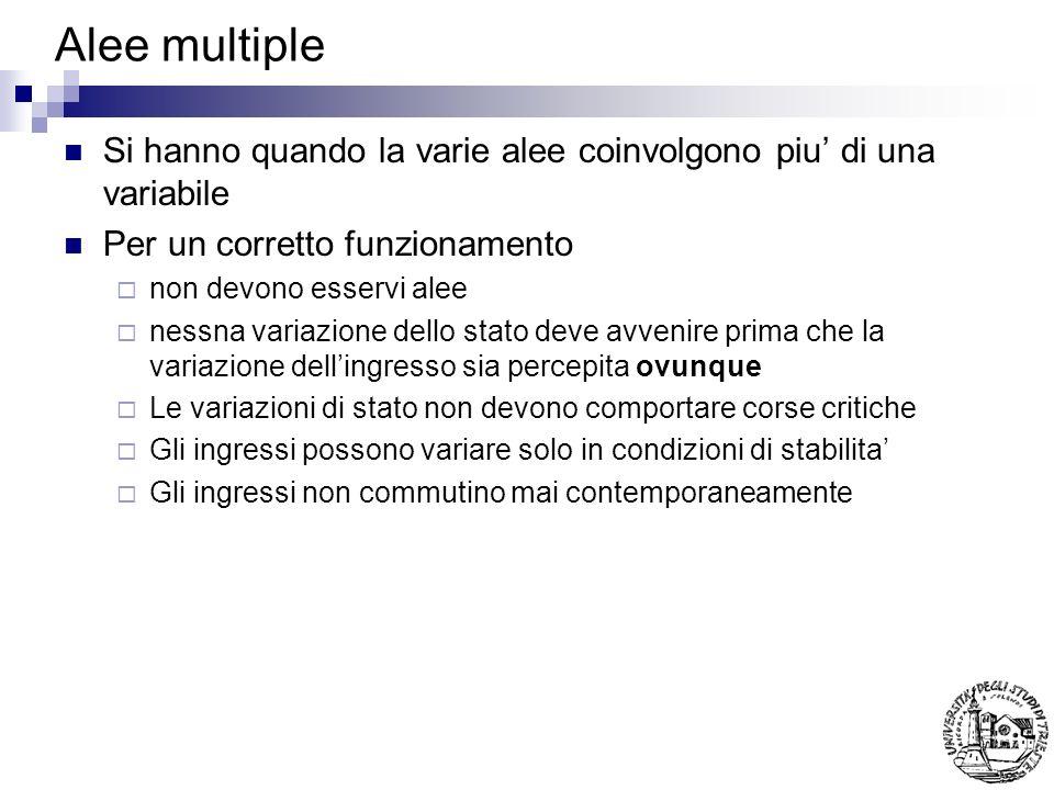 Alee multiple Si hanno quando la varie alee coinvolgono piu' di una variabile. Per un corretto funzionamento.