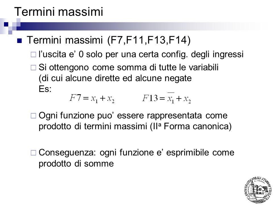 Termini massimi Termini massimi (F7,F11,F13,F14)