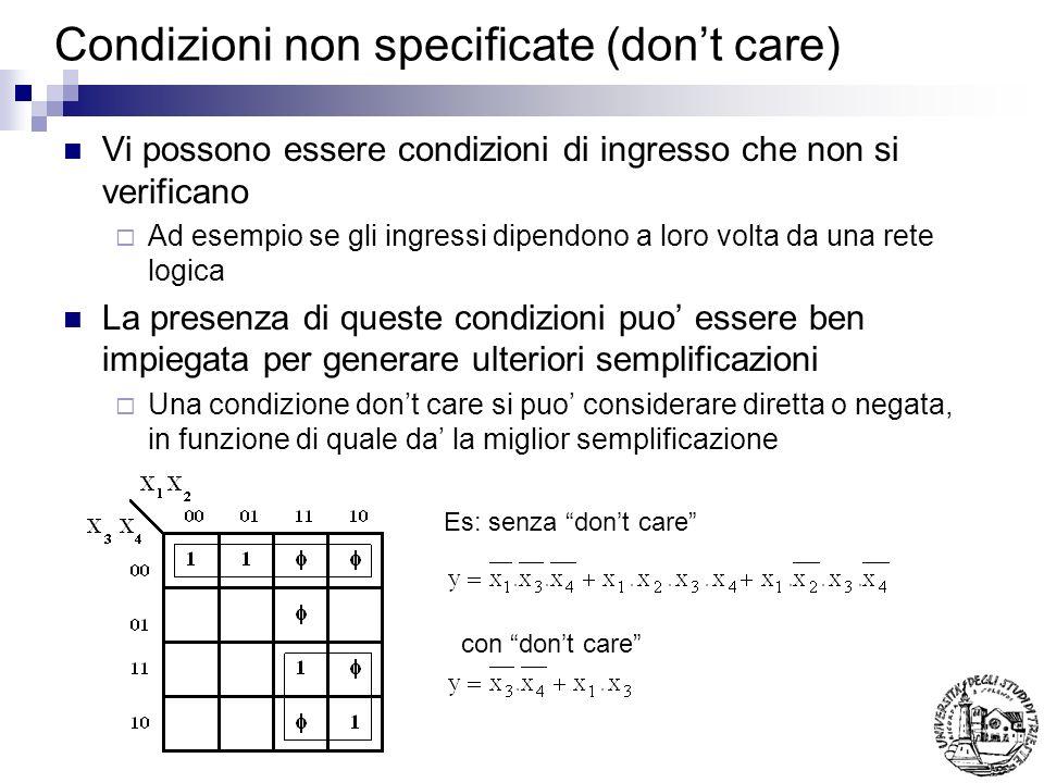 Condizioni non specificate (don't care)