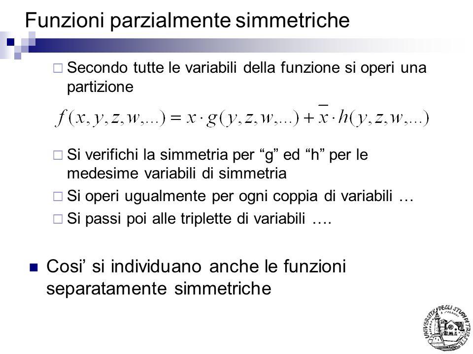 Funzioni parzialmente simmetriche