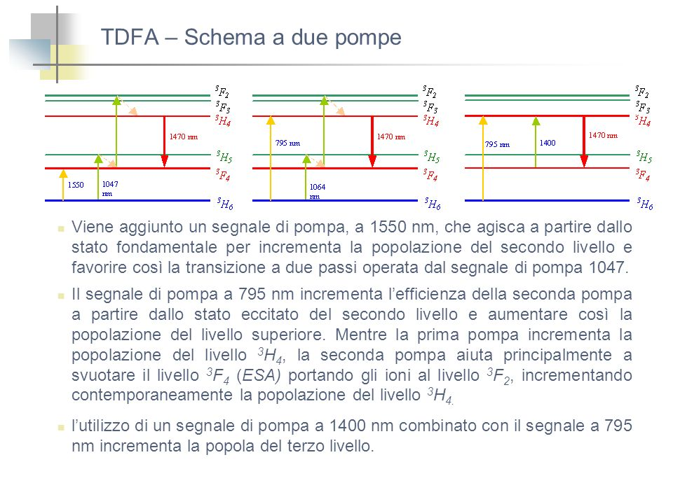 TDFA – Schema a due pompe