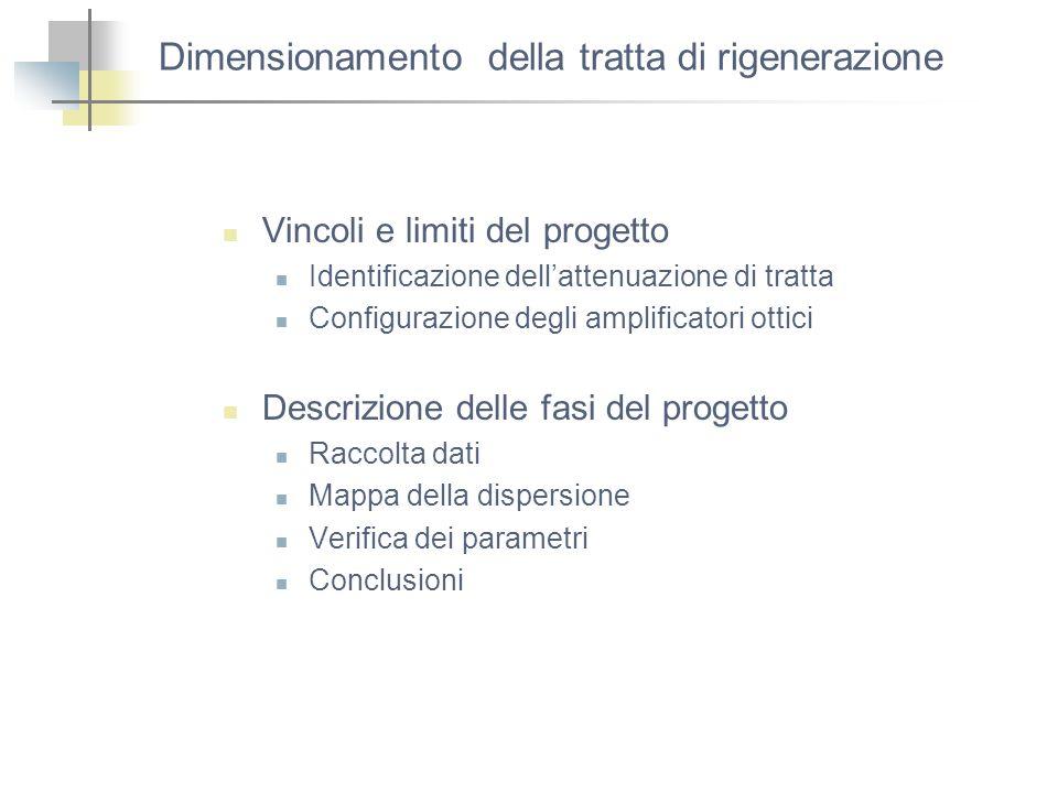 Dimensionamento della tratta di rigenerazione