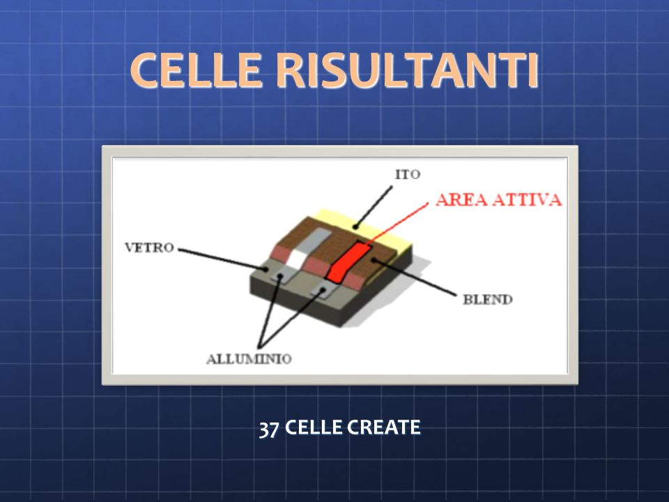 CELLE RISULTANTI 37 CELLE CREATE