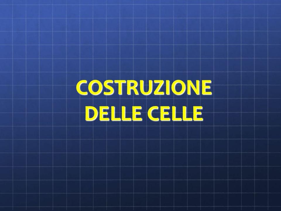 COSTRUZIONE DELLE CELLE