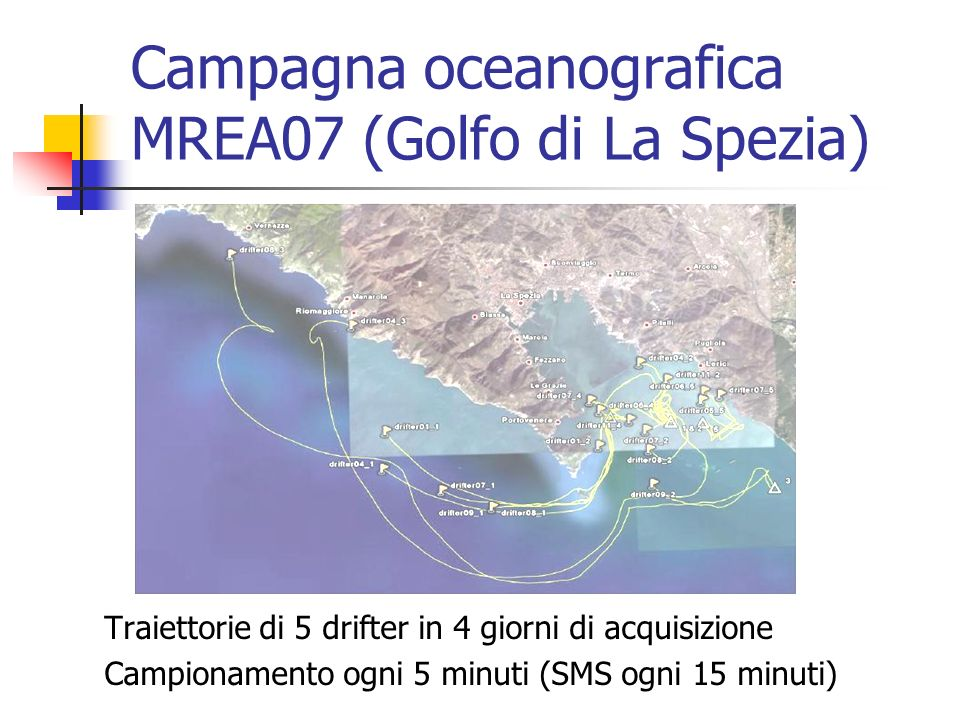 Campagna oceanografica MREA07 (Golfo di La Spezia)