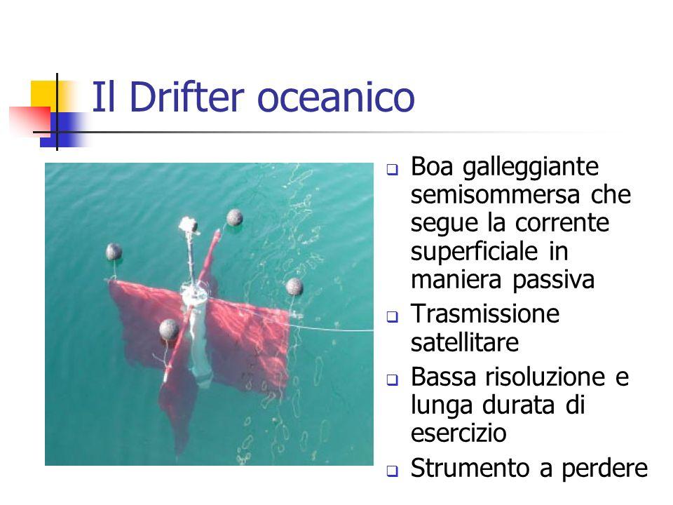Il Drifter oceanico Boa galleggiante semisommersa che segue la corrente superficiale in maniera passiva.