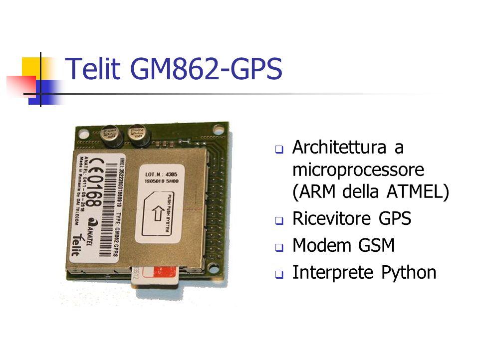 Telit GM862-GPS Architettura a microprocessore (ARM della ATMEL)