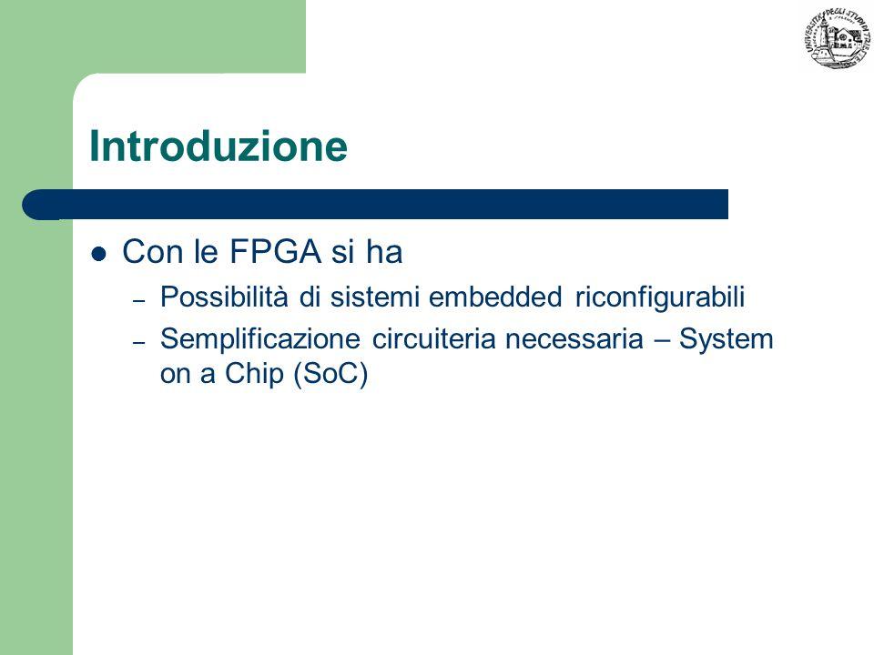 Introduzione Con le FPGA si ha