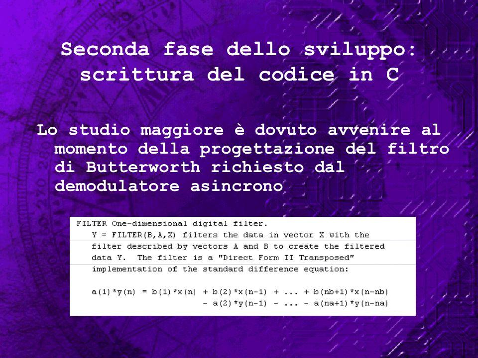 Seconda fase dello sviluppo: scrittura del codice in C