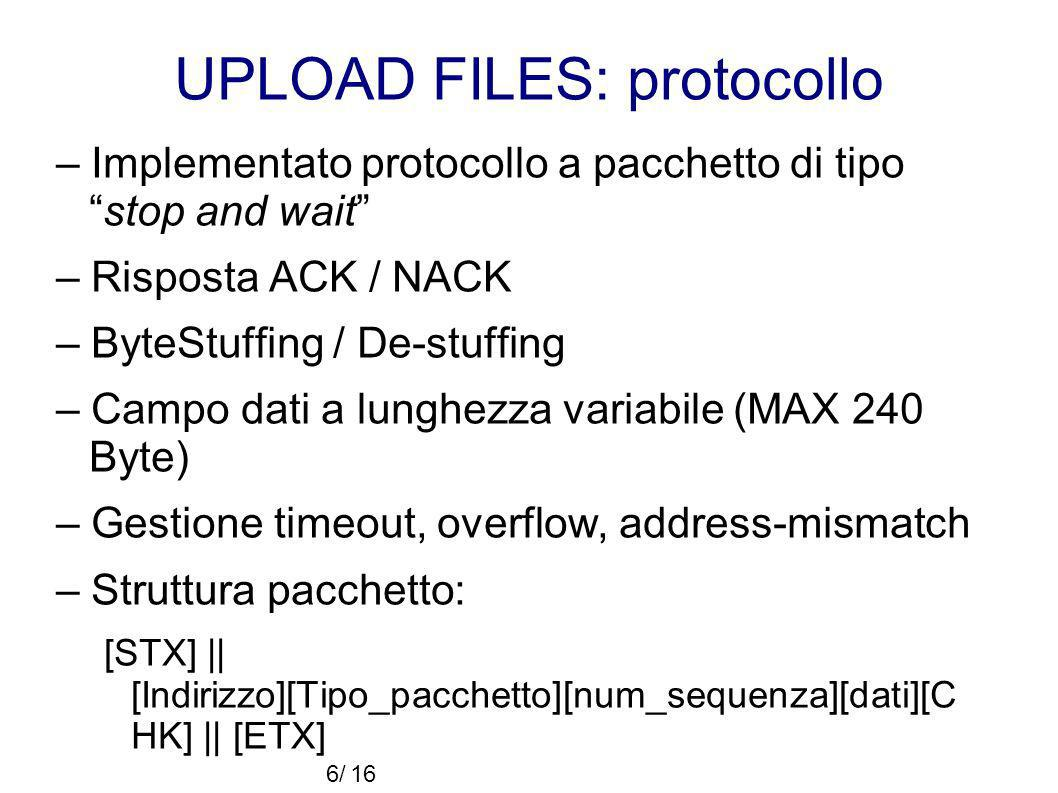 UPLOAD FILES: protocollo
