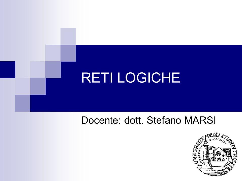 Docente: dott. Stefano MARSI