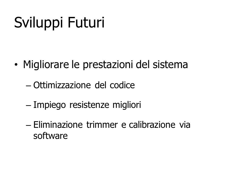 Sviluppi Futuri Migliorare le prestazioni del sistema