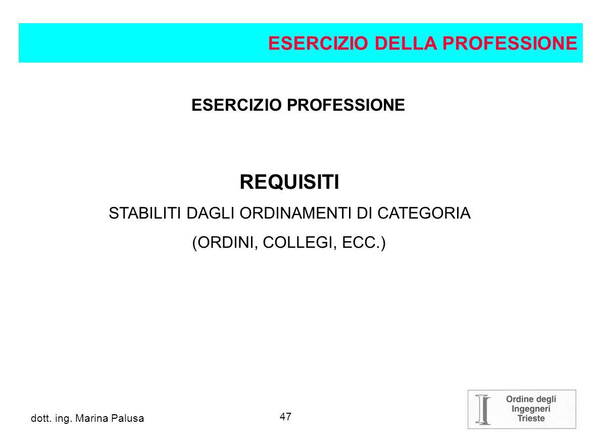 ESERCIZIO PROFESSIONE