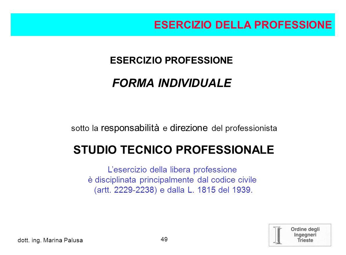 ESERCIZIO PROFESSIONE STUDIO TECNICO PROFESSIONALE