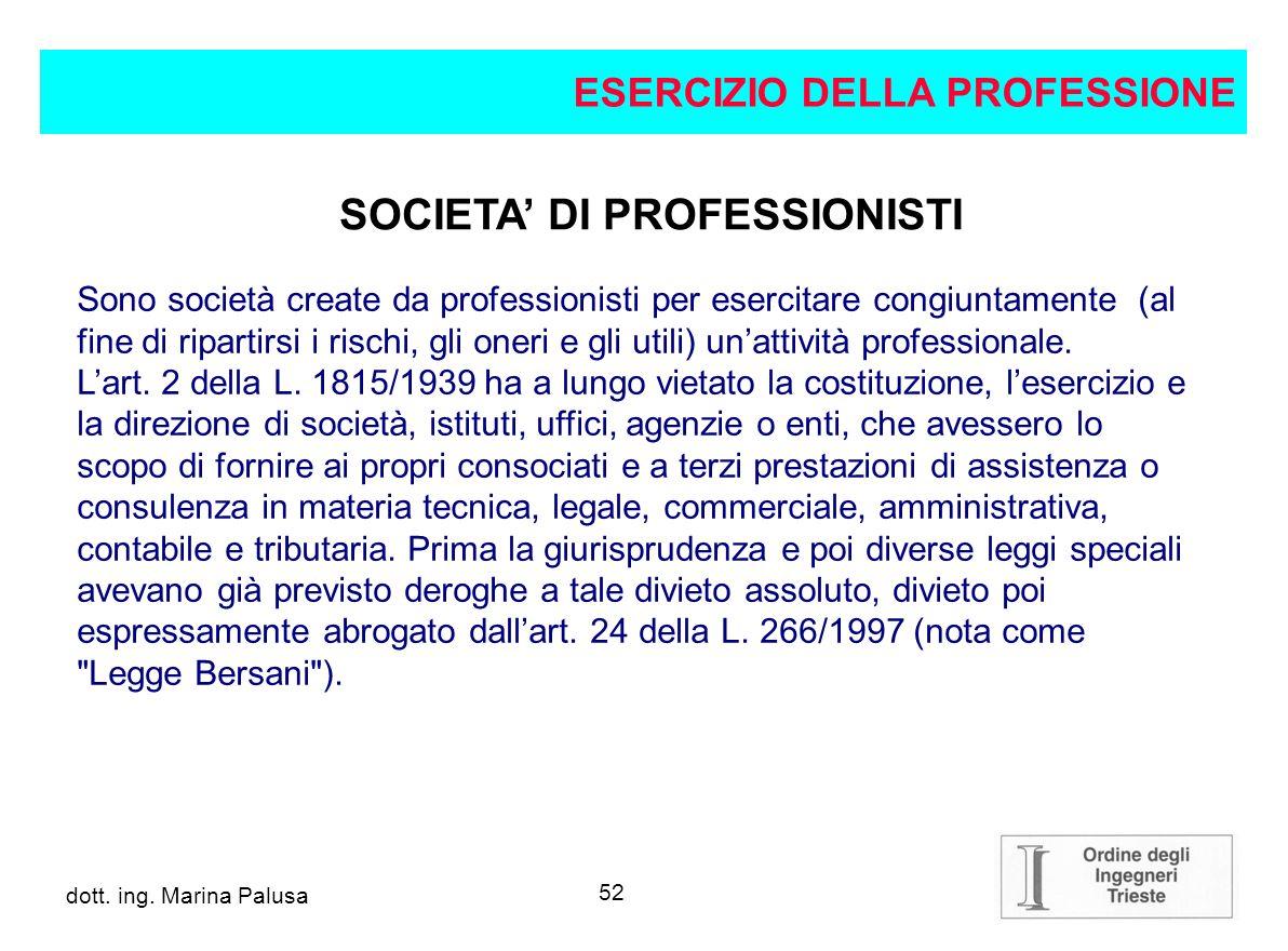 SOCIETA' DI PROFESSIONISTI