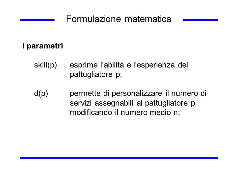 Formulazione matematica
