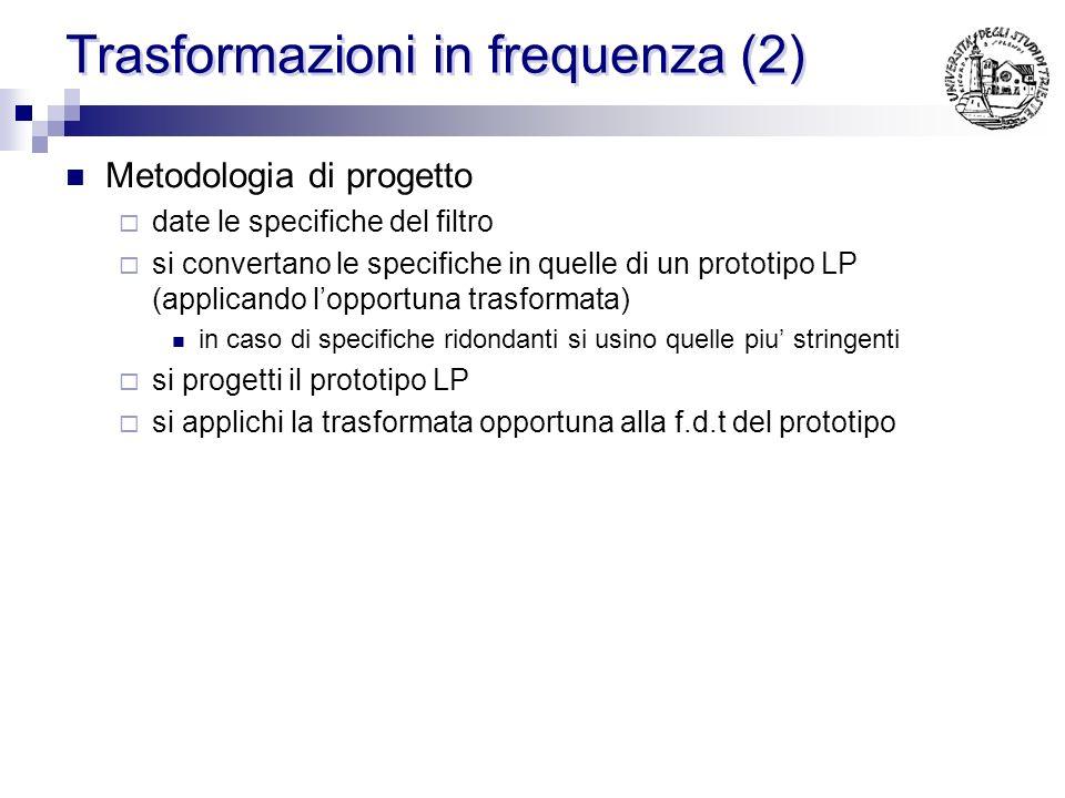Trasformazioni in frequenza (2)