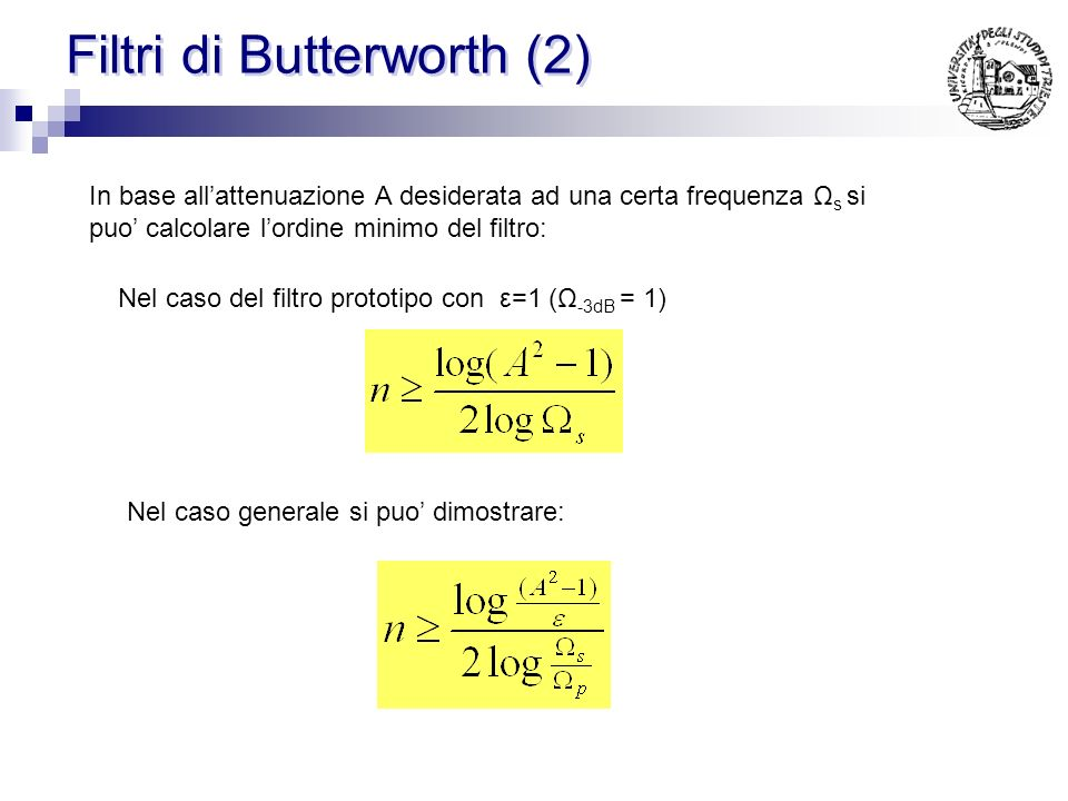 Filtri di Butterworth (2)
