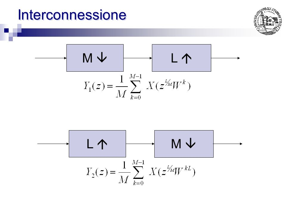 Interconnessione M  L  L  M 