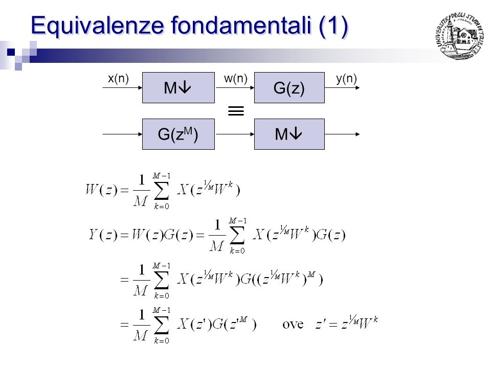 Equivalenze fondamentali (1)